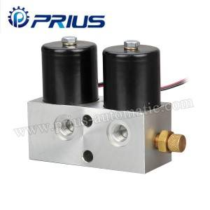 High Pressure Air Flow Udhibiti Valve DC12V / DC24V Secondary Shunt Double Coils