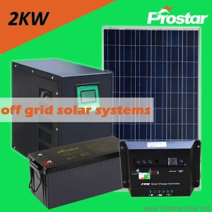 Prostar 2kw solar system with batteries for home