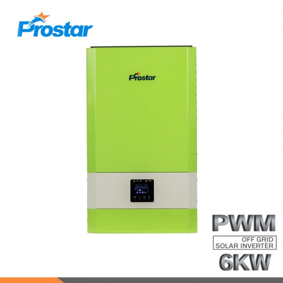 6KW 48V Wall Mounted Off Grid Pure Sine Wave Solar Inverter with PWM Solar Charge Controller