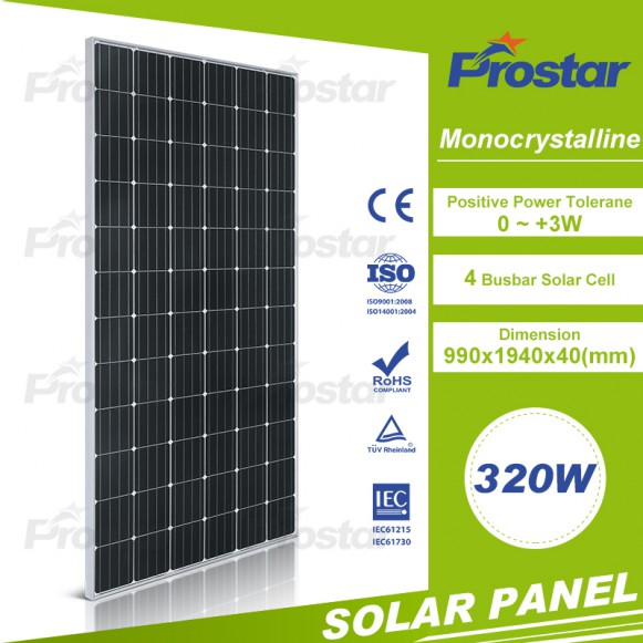 Chinese Wholesale 320w Monocrystalline Solar Module Solar Panel For Sale