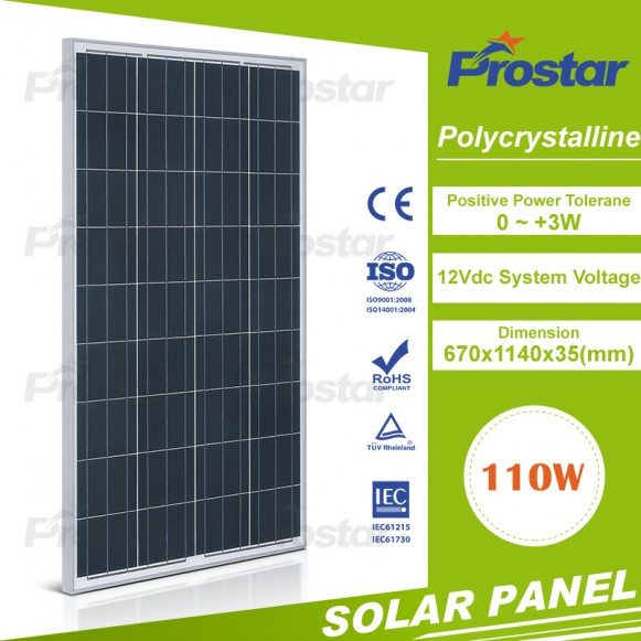 Best price 2017 Top quality poly 110w solar panel for solar system