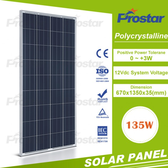 High efficiecy polycrystalline solar panels 135w solar panel with best price high quality