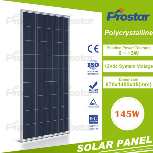 Good performance solar panel 145w for home applicance