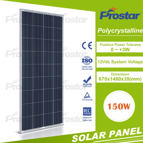 Normal specification 150w solar panel good quanlity