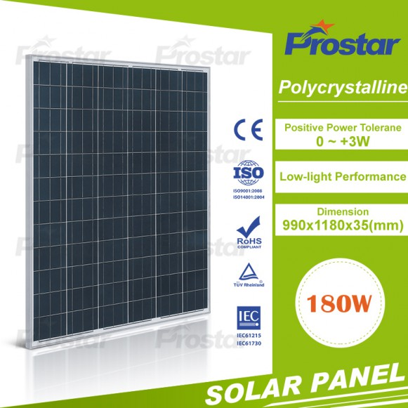 Prostar poly solar panel 180W for solar street light led use
