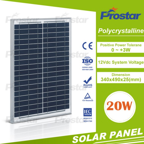Good performance solar panel 20w for home applicance