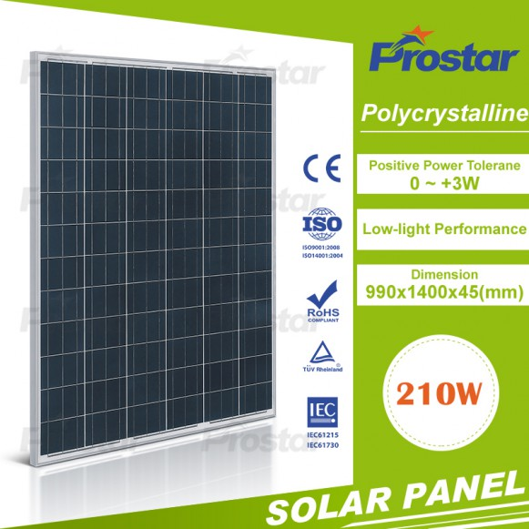 Chinese Wholesale 12V 210w Polycrystalline Solar Module Solar Panel For Sale