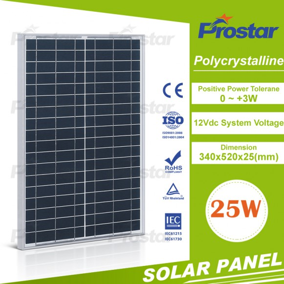 Poly 25w solar panel for mobile phones export all over the world
