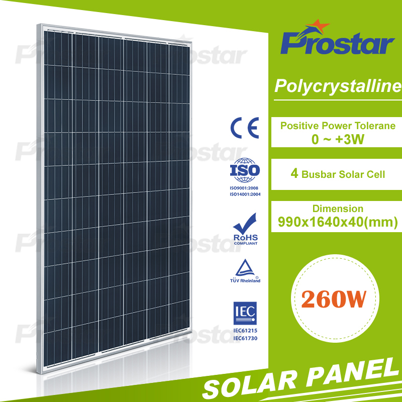 High Efficiency A Grade Poly 260W Solar Panel