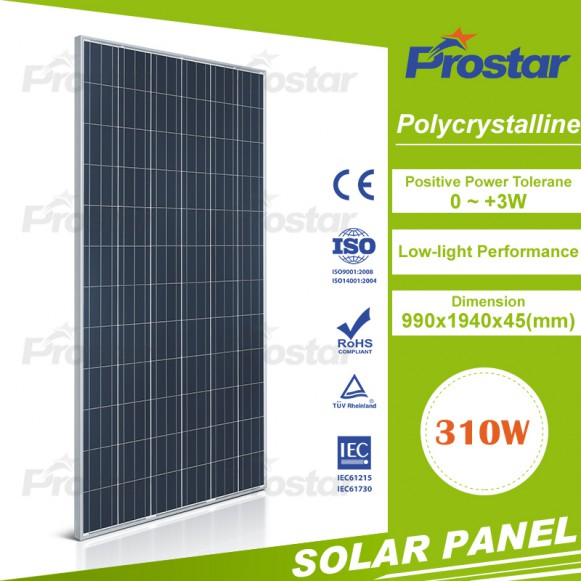 25Years Warranty Pv Solar Panel Power 310W For Home