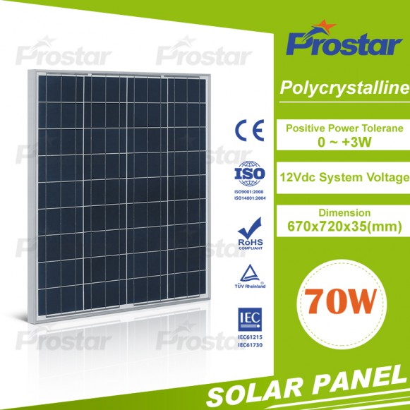 Home Power Kit Solar Power 70W Poly Solar Panel 70 Watt Price