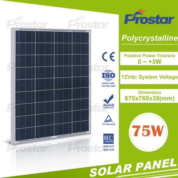 Chinese Wholesale 12V 75w Polycrystalline Solar Module Solar Panel For Sale