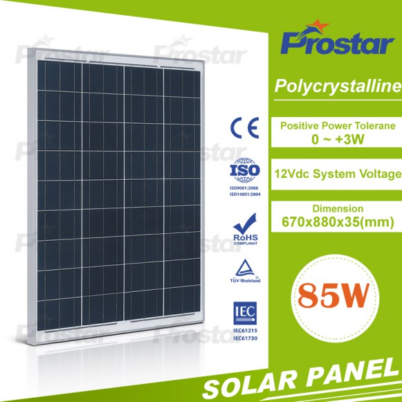 Hot Selling Energy Products New design best quality 85w solar panel poly
