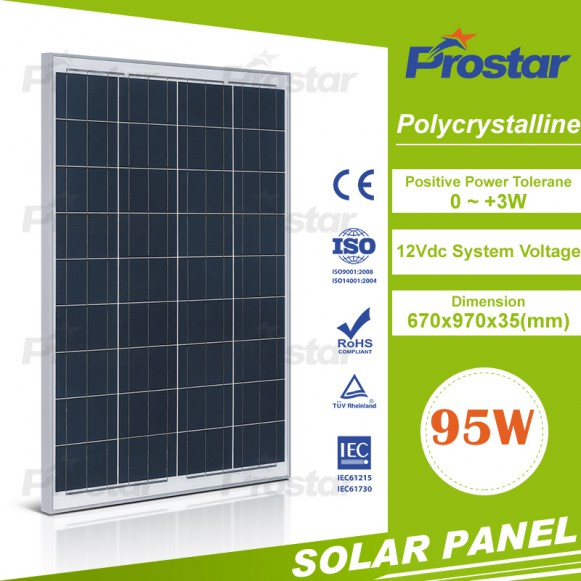 High efficiecy polycrystalline solar panels 95w solar panel with best price high quality
