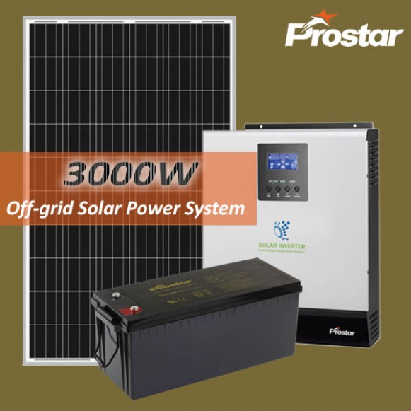 Prostar 3KW off grid solar systems for your home