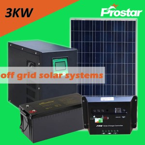 Prostar 3000w home solar system with storage batteries