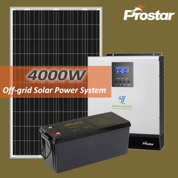 Prostar affordable 4kw solar system with batteries for house