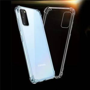Samsung S20 Series Crystal Bent Ultra Thin Slim Soft TPU Transparent Phone Case