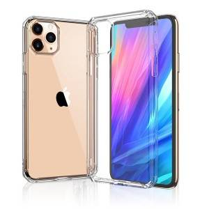 Crystal Bent Ultra Thin Slim Soft TPU Transparent Phone Case For iPhone 11 Pro