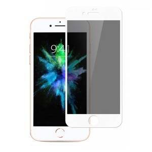 Anti-Scratch Anti-Peep Shield White Tempered Glass Screen Protector for iPhone 7 8 Plus
