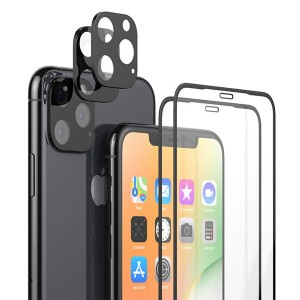 Camera Lens Protector + Tempered Glass Full Coverage Protector for iPhone 11 Pro Max