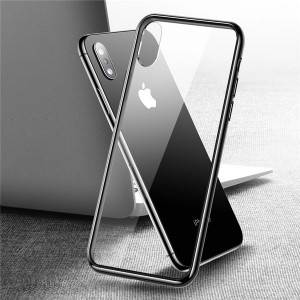 9H + Premium TPU Bumper Full Protective Crystal Clear Transparent Case For iPhone XS