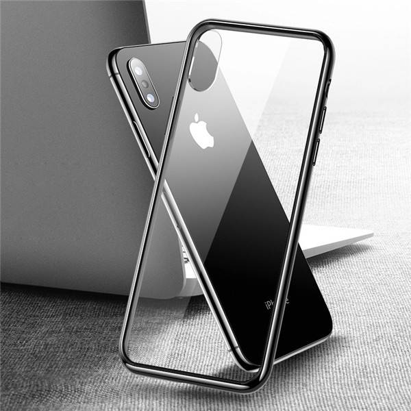 9H + Premium TPU Bumper Full Protective Crystal Clear Transparent Case For iPhone XS Featured Image