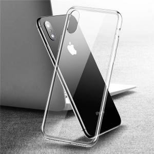 9H Tempered Glass Back Case+TPU Frame Hybrid Slim case for iPhone X