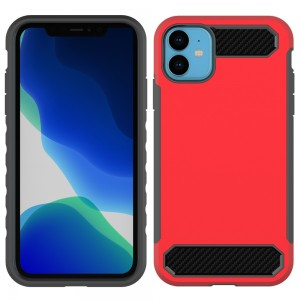 Bumper Case Slim Liquid Armor Flexible Silicone Carbon Fiber Cover Case For iPhone 11