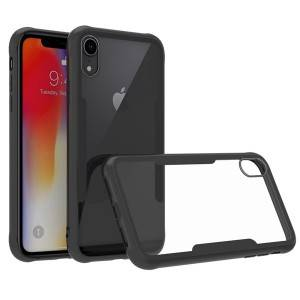 Luxury Clear Back Cover for iPhone XR Tempered Glass TPU Soft Protective Bumper Case
