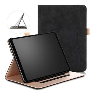 Premium Leather Multi-Angle Viewing Folding Stand Cover For iPad Pro 11 Inch 2018 with Auto Wake Or Sleep