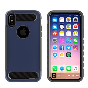 Carbon Fiber Silicone Case For iPhone X Cases Soft TPU Protective Back Cover