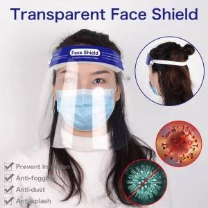 Unique design face shield tube