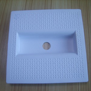 Dry-pressed white pulp paper holder 04