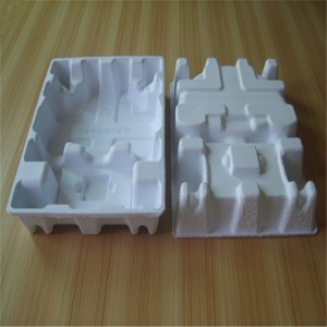 Dry-pressed white pulp paper holder 06