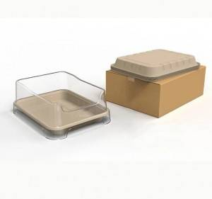 factory outlets customized molded pulp tray for pet nest tray