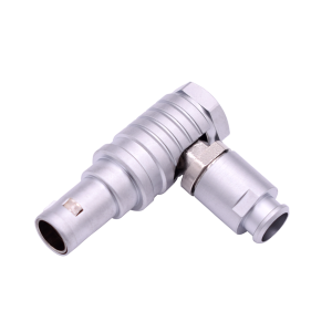 INT-THG Metal Push Pull Round Elbow Connector with A nut for Bend Relief 2 Pins to 30 Pins