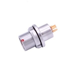 INT-MEG B series IP68 Metal Female Waterproof Connector Vacuum-tight Socket