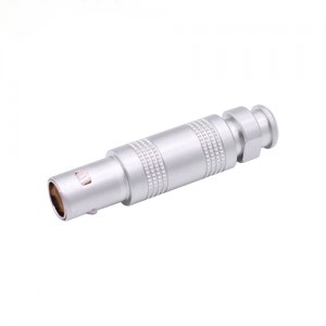 INT-TFA S series Coaxial Connector IP50 A Nut for Bend Relief