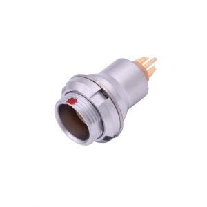 INT-ZEG Circular Push Pull Metal Female Automotive Connector Fixed Receptacle 0B 1B 2B 3B Series