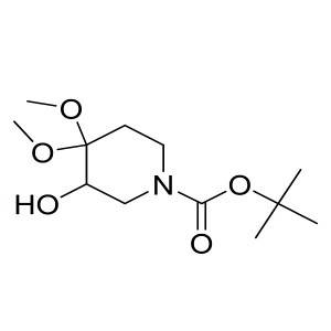 tert-butyl 3-hydroxy-4,4-dimethoxypiperidine-1-carboxylate CAS:841286-80-4