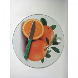 Clear tempered glass cutting board/chopping board for fruit