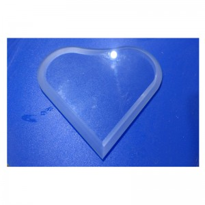 Beveled Heart Shaped Glass Low Iron Tempere glass