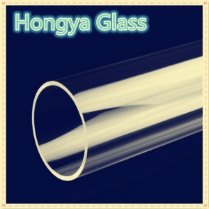 100-400mm OD large size clear durable borosilicate glass tube