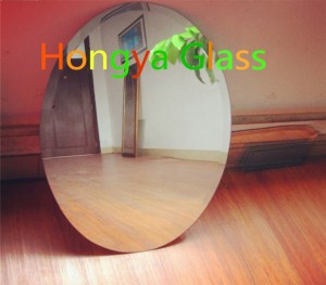 4mm 5mm 6mm clear float glass round aluminum mirror with polished edge