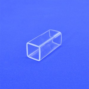 Customizable refractory high purity high-temperature pyrex square quartz glass tube