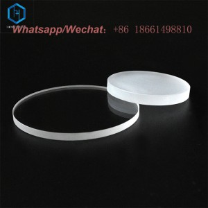 Round quartz glass discs clear and quartz glass window