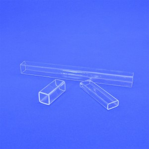 China factory all size fused silica transparent clear square quartz glass tube with fast delivery