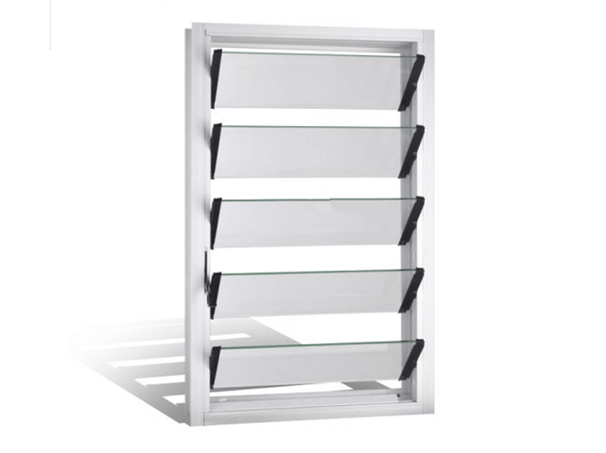 Louver window glass