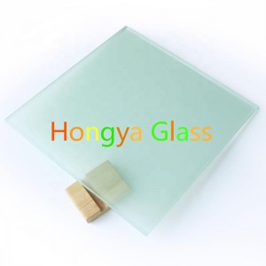6mm milk white ceramic silkscreen printing Tempered privacy glass